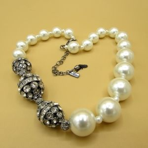 Hallmarked Faux Pearl and Rhinestone